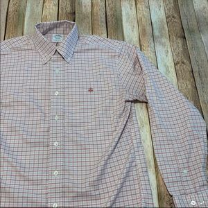 Brooks Brothers men's button down plaid shirt